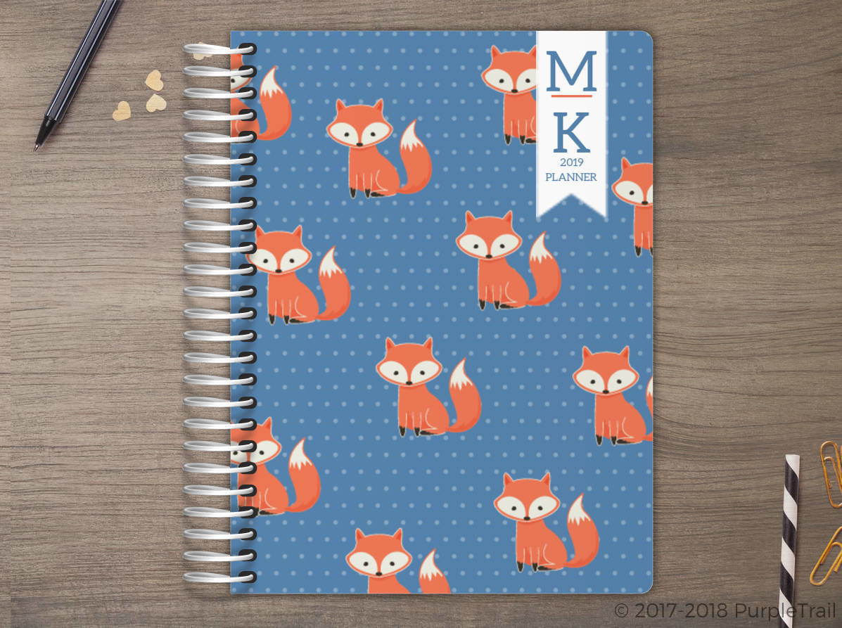 Cute Fox Meal Planner