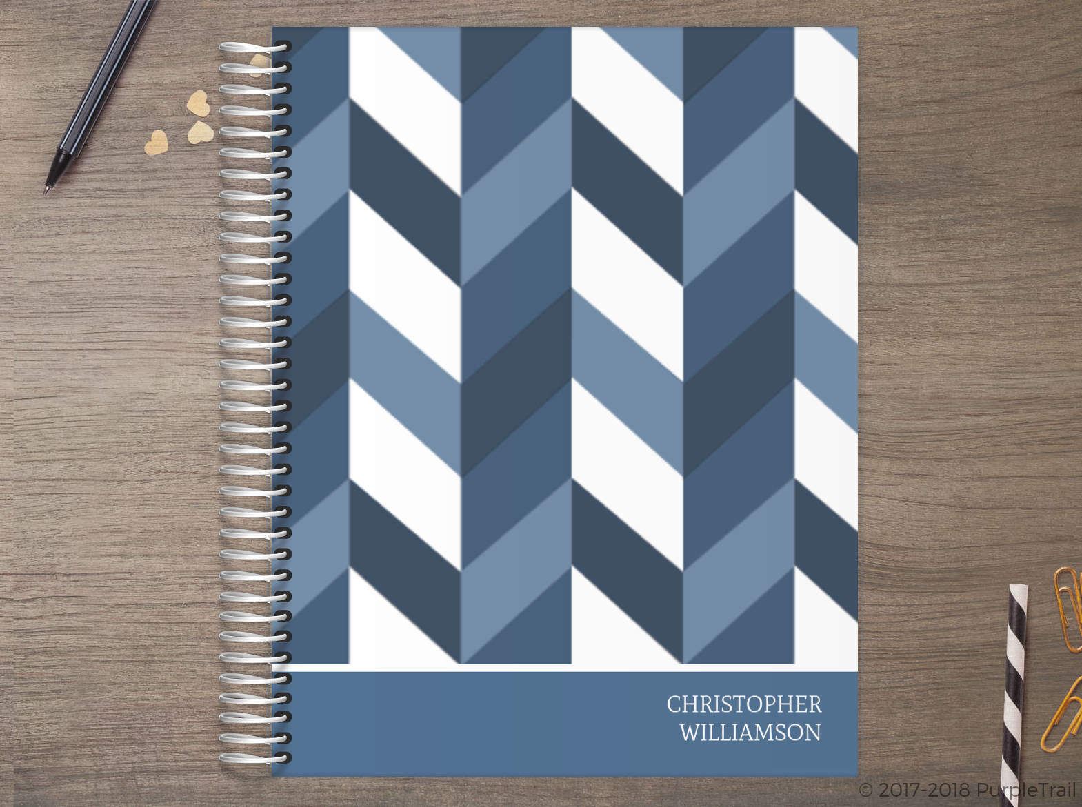 Classic Chevron Meal Planner