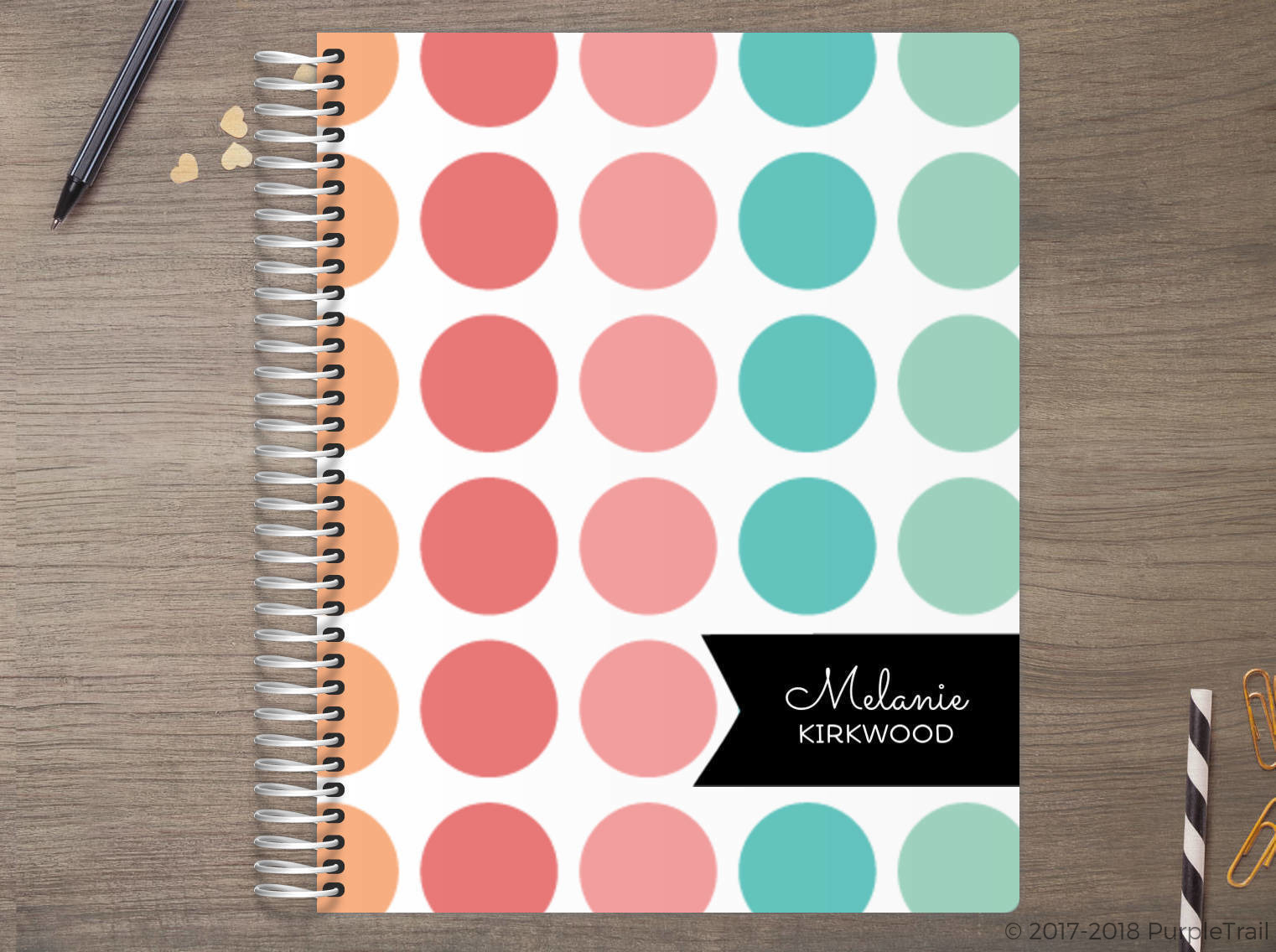 Color Burst Polka Dot Meal Planner