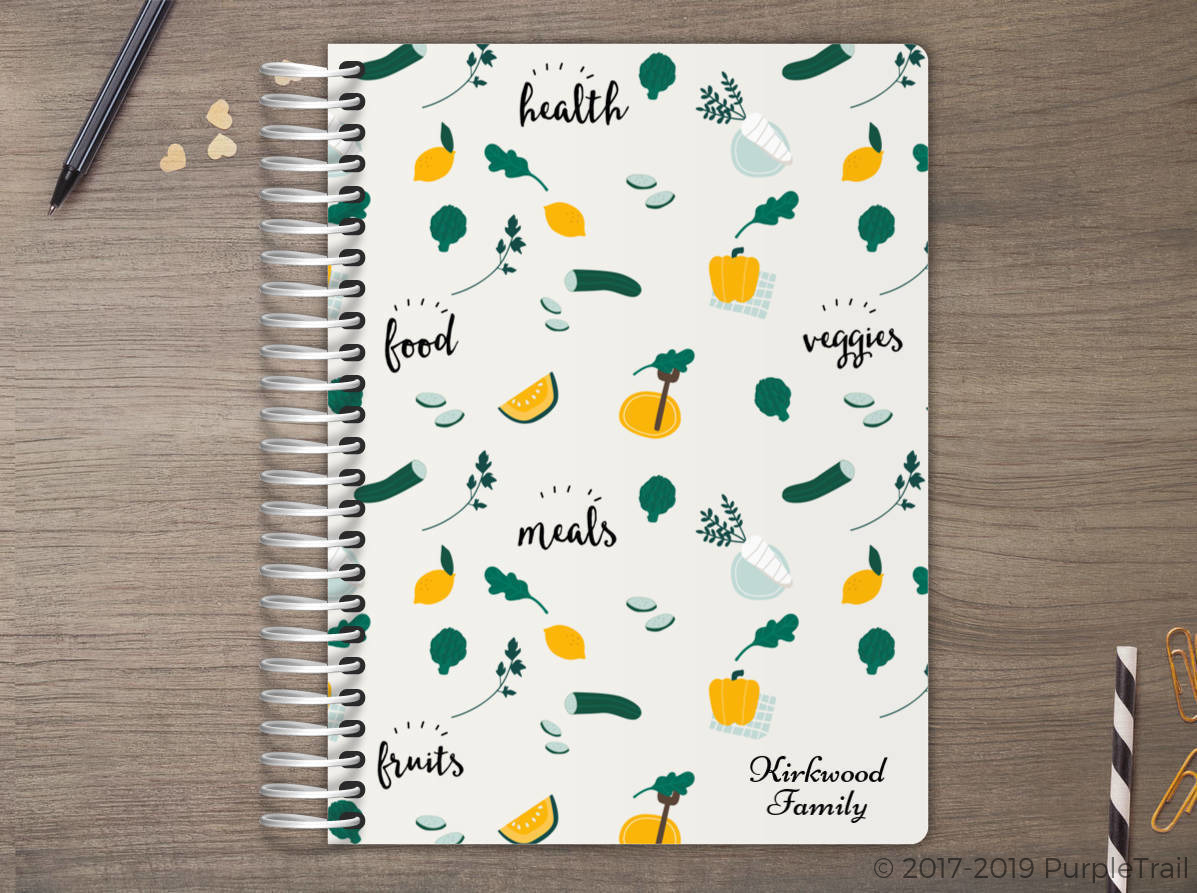 Cute Vegan Pattern Meal Planner