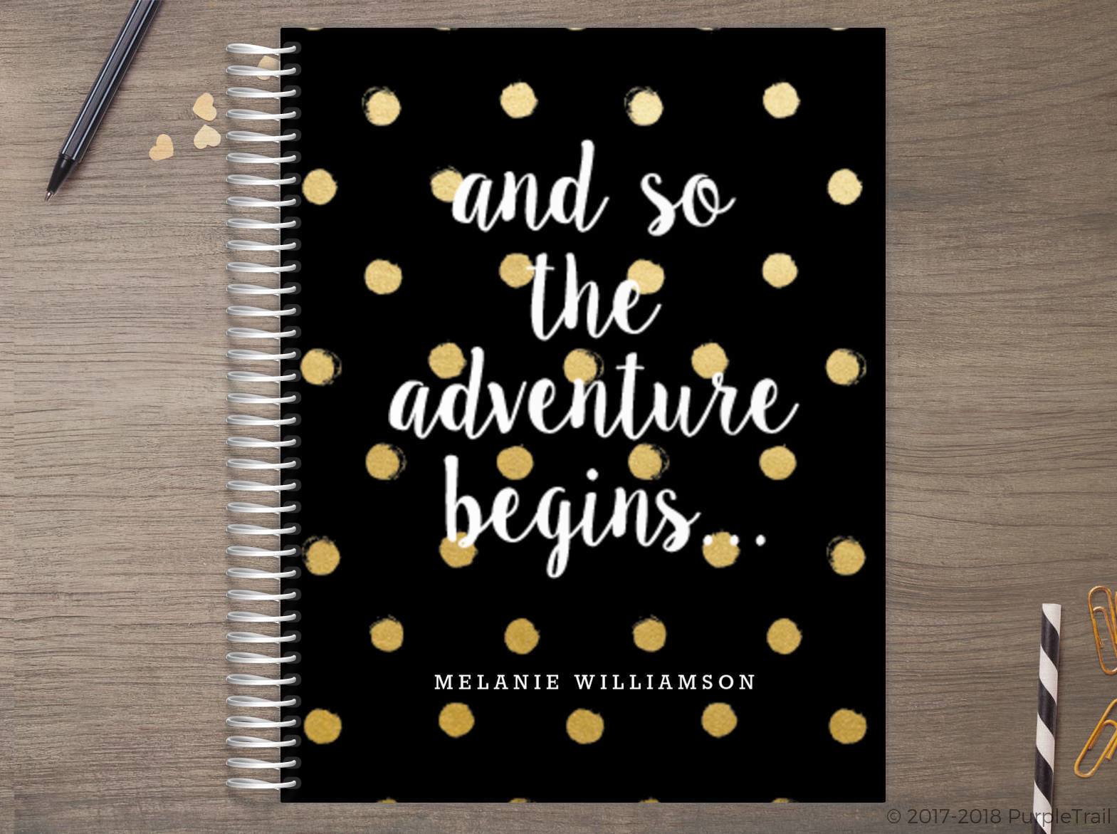 Adventure Begins Polka Dot Meal Planner
