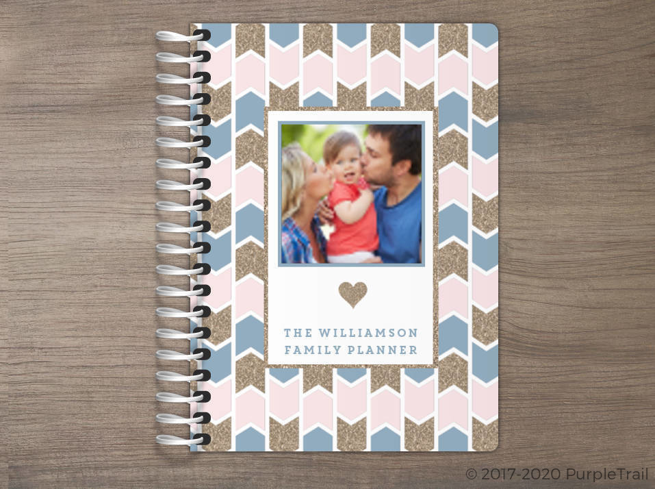 Faux Glitter Pattern Tiny Planner