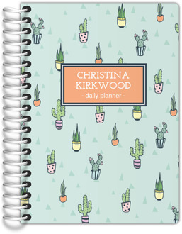 Cactus Pattern Tiny Planner