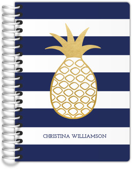 Faux Gold Pineapple Stripe Tiny Planner