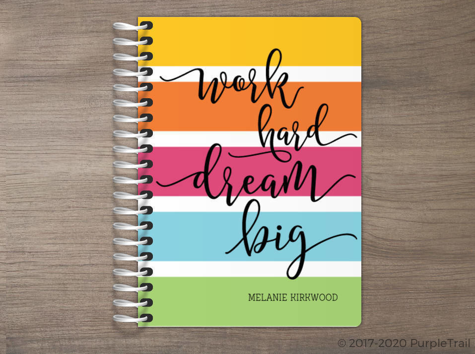 Work Hard Dream Big Tiny Planner