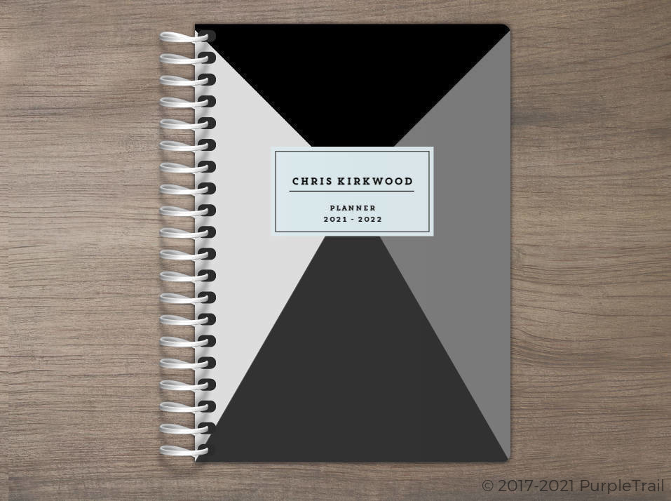 Geometric Grayscale Tiny Planner