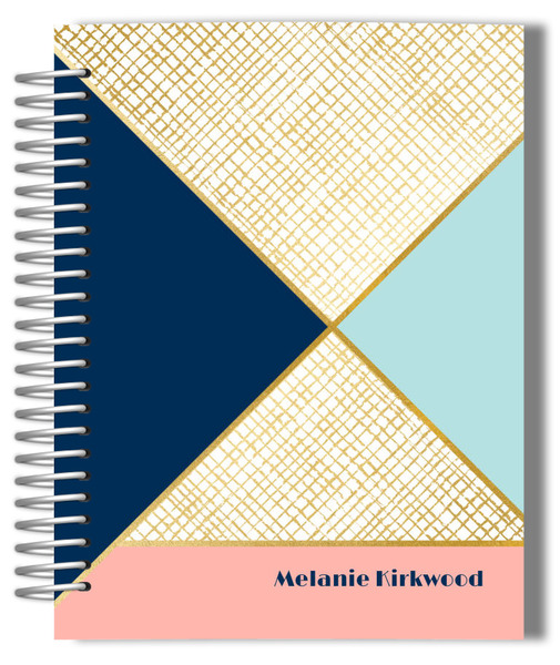 Gold Geometric Pattern Weekly Planner
