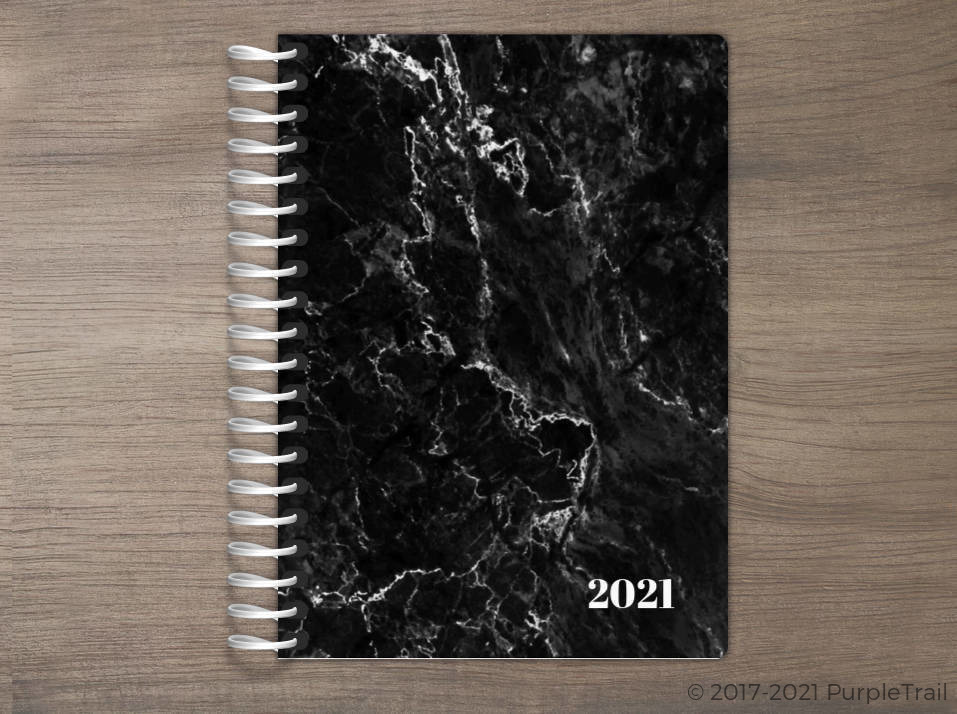 Black Marble Tiny Planner