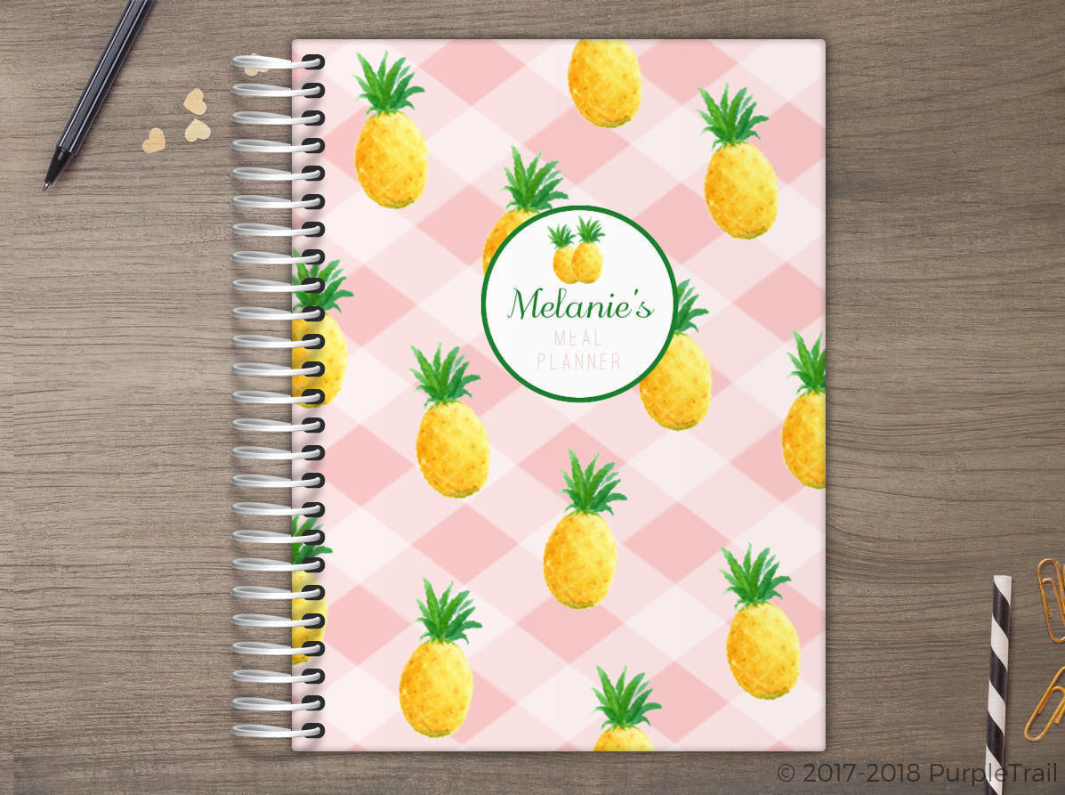 Pineapple Pattern Meal Planner