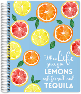 Watercolor Lemons Meal Planner