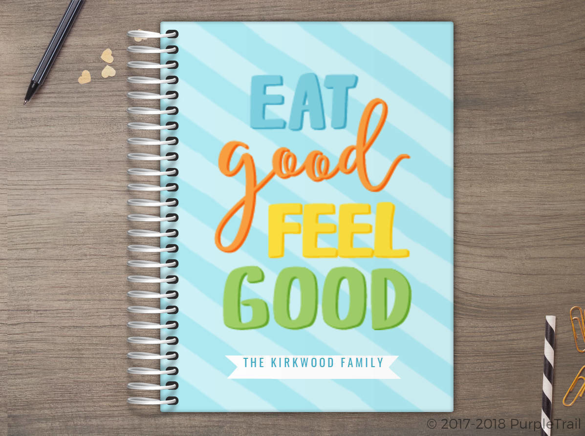 Eat Good Feel Good Stripes Meal Planner