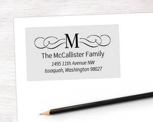 Fancy Initial Address Label