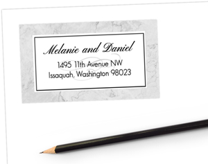 Classic Marble Address Label