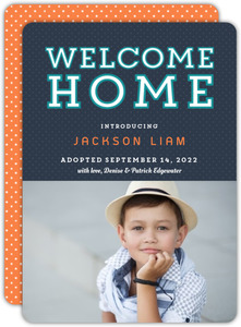 Polka Dot Welcome Home Adoption Announcement