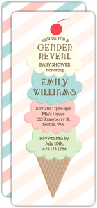 Ice Cream Stack Gender Reveal Baby Shower Invitation