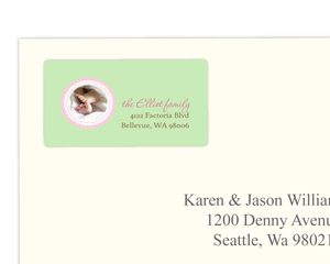 Mint Green And Pink Address Label