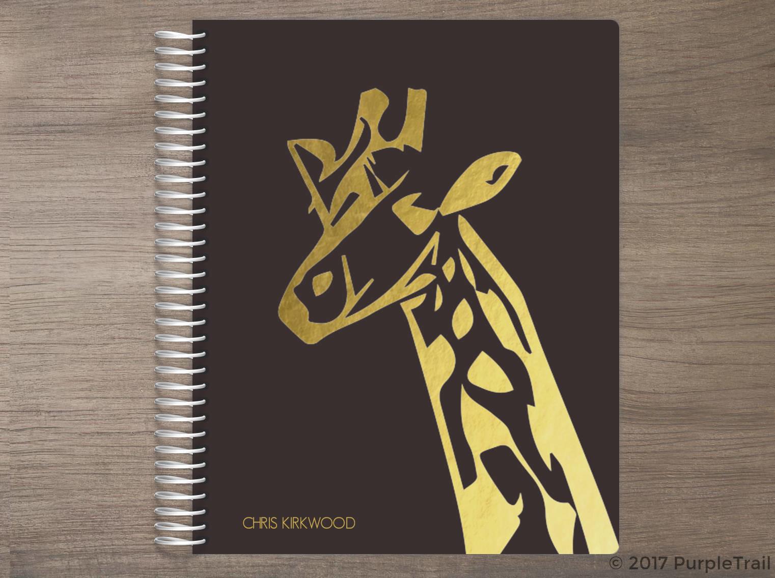African Giraffe Silhouette Weekly Planner