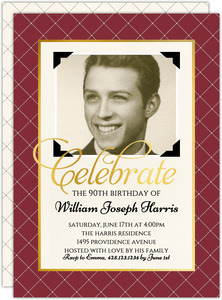 Vintage Photo 90th Birthday Invitation