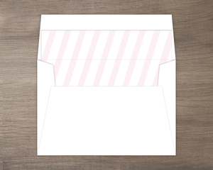 Soft Pink and White Stripes Envelope Liner