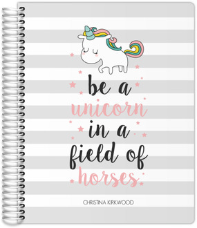 Stripes Unicorn Quote Teacher Planner