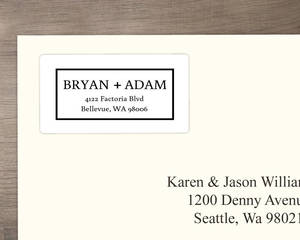 Classic Wedding  Address Label