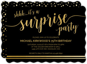 Its A Surprise 75th Birthday Invitation