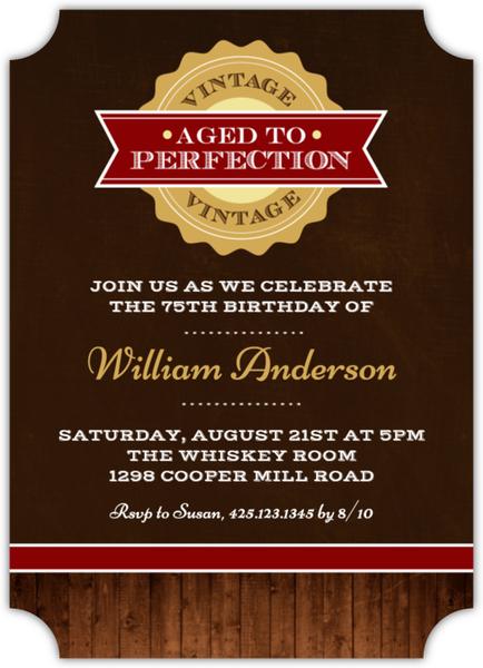 Vintage Perfection 75th Birthday Invitation 75th Birthday Invitations