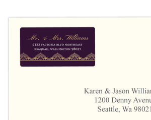 Royal Purple & Faux Gold Address Label