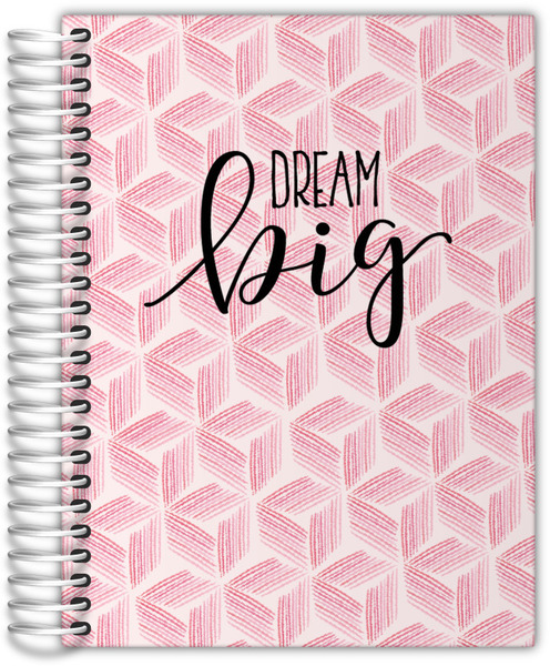 Pink Geometric Watercolor Pattern Weekly Planner