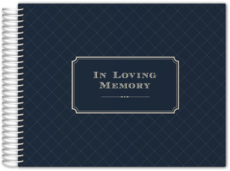 In Loving Memory Traditional Funeral Guest Book