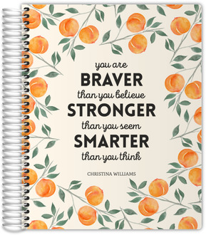 Watercolor Peach Quote Weekly Planner