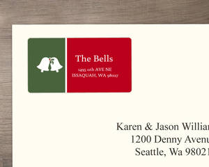 Holiday Bells Address Label