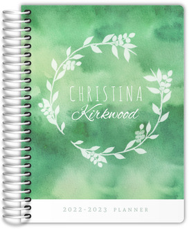 Greenery Watercolor Student Planner