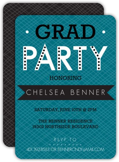 Bold Banner Graduation Party Invitation
