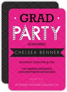Bold Banner Graduation Party Invitation