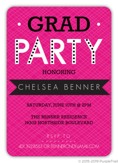 bold banner graduation party invitation graduation invitations