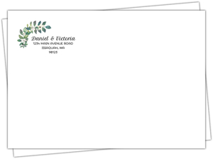 Diamond Frame Greenery Custom Envelope