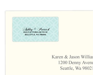 Turquoise Monogram Address Labels