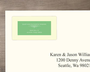 Mint Green And Cream Address Labels