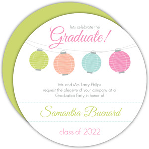 Colorful Lanterns Graduation Invitation
