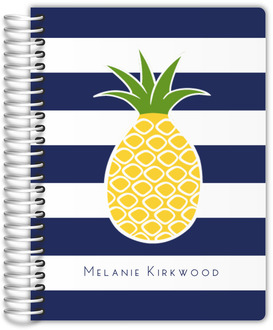 Pineapple Navy Stripe Student Planner