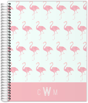 Pink Watercolor Flamingo Teacher Planner