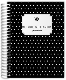 Black and White Polka Dot Monthly Planner