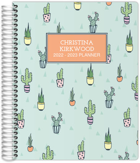 Cactus Pattern Student Planner