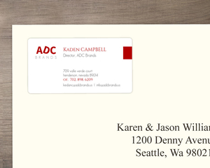 Red Business Logo Address Label