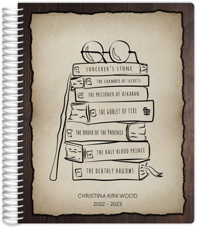 Wand And Book Stack Student Planner