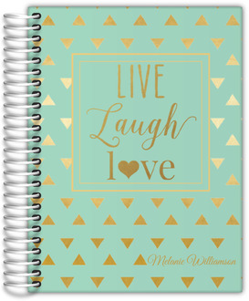 Faux Gold Foil Triangle Quote Custom Student Planner