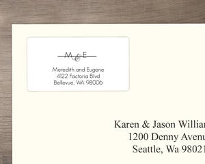 Modern Stripe Address Labels