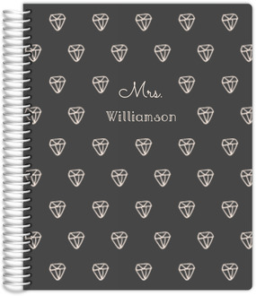 Sketchy Diamond Pattern Student Planner