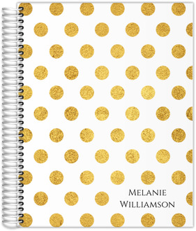 Golden Polka Dot Teacher Planner